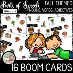 Boom Cards - Parts of Speech Fall