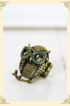 i don't wear a lot of rings... another cute owl nonetheless.