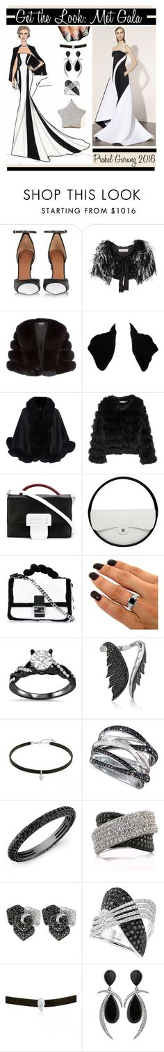 """""""Get the Look: Met Gala 2016"""" by yours-styling-best-friend ❤ liked on Polyvore featuring Givenchy, Marni, Harrods, Oscar de la Renta, Alice + Olivia, Maison Margiela, Chanel, Fendi, Stephen Webster and R.H. Macy's & Co."""