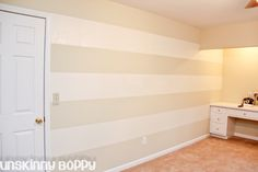 The Lazy Girl's Timesaving Tips For Painting Wall Stripes - I wonder if I could pull this off in the boys room...