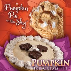 No fall gathering is complete without pumpkin pie! Try our Pumpkin Pie in the Sky Creation and our Pumpkin Ice Cream Pie! Our Pumpkin Ice Cream Pie is available in stores beginning on Nov. 5