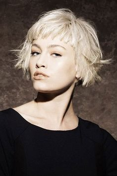 Short bob hairstyles with bangs this year are easily about celebrating the best looks of latest short bob haircuts for ladies. Super Short Bobs, Short Bobs With Bangs, Short Choppy Hair, Short Hair Cuts, Short Hair Styles, Very Short Bob, Choppy Bob With Fringe, Long Pixie Hair, Very Short Bangs