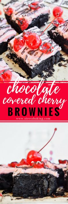 ༻❁༺ ❤️ ༻❁༺ Small Batch Chocolate Covered Cherry Brownies ༻❁༺ ❤️ ༻❁༺