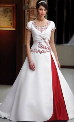 1000 Images About Wedding Dresses With Red Trim On