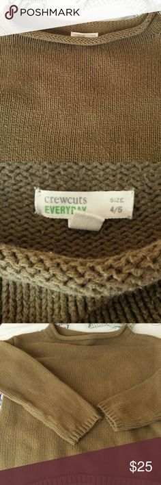 Child's Crew Cuts Olive drab roll neck sweater Very good condition. Cotton classic. Perfect for boys and girls. J. Crew Sweaters Crew & Scoop Necks