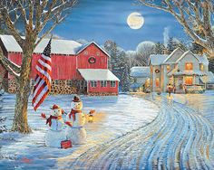 Moonlight Greeting Puzzle-White Mountain Puzzles