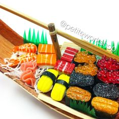 Here's a close up on some of our miniature sushi