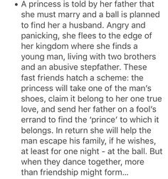 I like this! Magicless fairytale twist retelling thing.