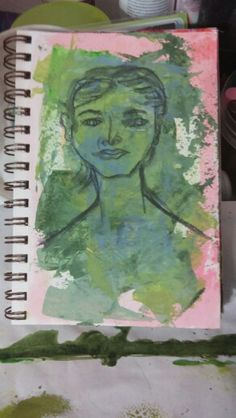 Art Journal page - face practice.