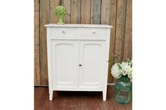 #Vintage White Painted French Cupboard | Vinterior London  #design #interiors #shabbychic #furniture #home