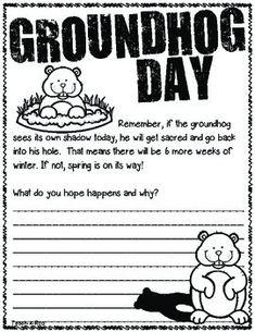 Cute Groundhog freebie!