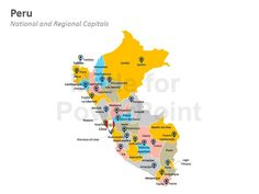 Peru Map: Editable PowerPoint Maps