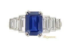 Kashmir Sapphire Diamond Ring (Unknown)