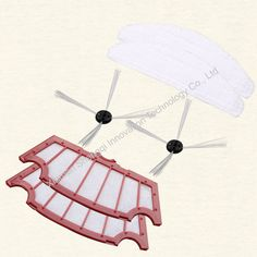 Double Pieces of Original A320 Robot Vacuum Cleaner HEPA Filter, Side Brush and Mop
