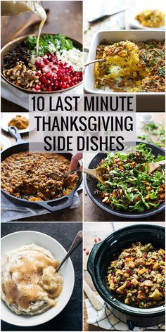 Ten Last Minute Thanksgiving Side Dishes perfect for making a quick decision about what side dishes you should bring to Thanksgiving. @pinchofyum