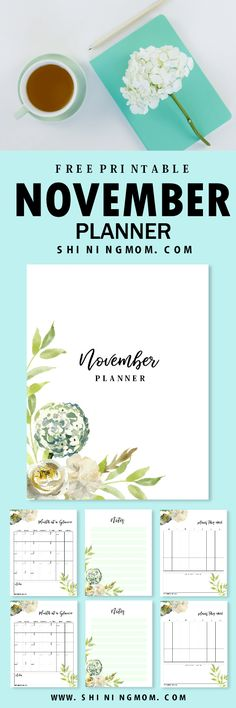 Get this free printable November planner and plan an amazingly organized and beautiful month! #planner #november #plannerlove #free #freebies #blog #printable