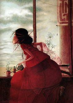childrens book illustration,contemporary artists,French artists, graphics, illustration,Rebecca Dautremer 'Cyrano'