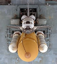 Overhead view of Space Shuttle Atlantis on the Mobile Launcher Platform as it traveled to Launch Pad 39A from the Vehicle Assembly Building. Atlantis lifted off on Mission STS-79 on September 16 1996. [1280  1427]