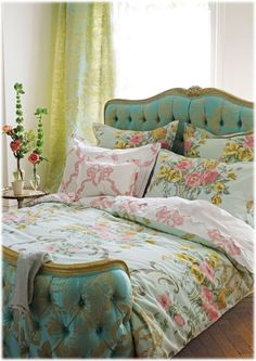 Designers Guild Rosemoor floral cotton sateen bedding