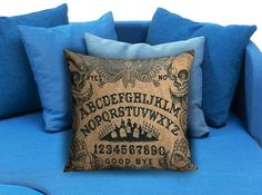 Ouija board horror movie Pillow Case Pillow Cover Printed 18x18 16x24 20x30 Modern Pillow Case Decorative Throw Pillow Case One Side Printing   These soft pillowcase made of 50% cotton, 50% polyester.  It would be perfect to decorate your home by using our super soft pillow cases on sofa, chair, bench or bed.  Customizable pillow case is both comfortable and durable, improving the quality of your sleep with these comfortable pillow case, take it home now!  Custom Zippered Pillow Cases…