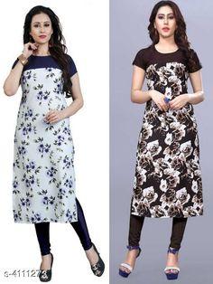 Kurtis & Kurtas Women's Crepe Printed Kurti Combo of 2 Fabric: Crepe Sleeve Length: Short Sleeves Pattern: Printed Combo of: Combo of 2 Sizes: S (Bust Size: 36 in Size Length: 46 in)  XL (Bust Size: 42 in Size Length: 46 in)  L (Bust Size: 40 in Size Length: 46 in)  M (Bust Size: 38 in Size Length: 46 in)  XXL (Bust Size: 44 in Size Length: 46 in) Country of Origin: India Sizes Available: S, M, L, XL, XXL, XXXL, 4XL, 5XL, 6XL   Catalog Rating: ★4 (489)  Catalog Name: Women's Crepe Printed Kurti Combo of 2 CatalogID_584875 C74-SC1001 Code: 763-4111273-