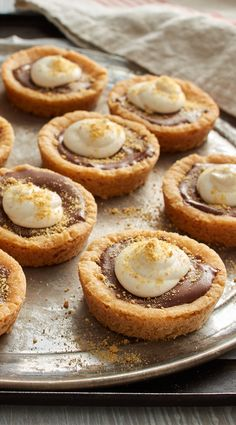 These might just be our favorite take on s'mores yet! Cute graham cookie cups, filled with Hershey's chocolate and finished with marshmallow topping, we love that these are just the right size -- especially if you want to eat more than one!
