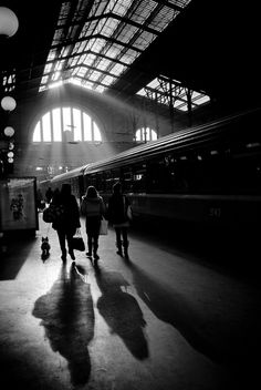 Train stration Gare du Nord Black and white #photography
