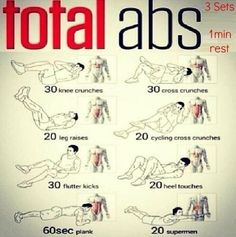 10 Minute Abdominal Warrior Workout. (Do before showering in the AM).