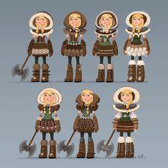 Costume design de Astrid, de How to Train Your Dragon 2 | THECAB - The Concept Art Blog