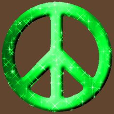Lime green peace sign