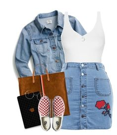 A fashion look from August 2017 featuring blue jackets, womens plus size skirts and slip-on shoes. Browse and shop related looks. Lit Outfits, Cute Swag Outfits, Teen Fashion Outfits, Outfits For Teens, Summer Outfits, Jugend Mode Outfits, Teenager Outfits, Polyvore Outfits, Polyvore Fashion