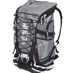Venum 'Challenger Xtreme' Backpack >>> Don't get left behind, see this great product : Hiking backpack Judo, Grey Backpacks, Outdoor Backpacks, Hapkido, Blue And Green, Black And Grey, Muay Thai, Hiking Backpack, Backpack Bags