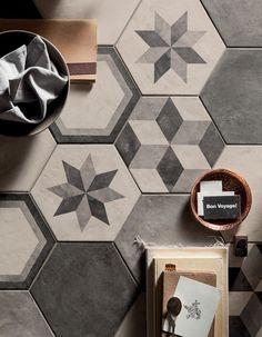 Casablanca Dark Grey Hexagon Tiles From Mandarin Stone These Decorative Range The Simple