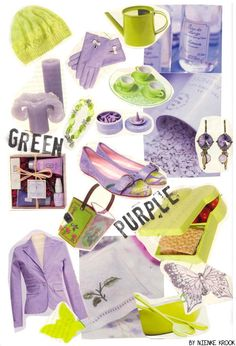 Color Inspiration - Green and Purple by Nienke Krook --  could be a good pair to brighten up a dark kitchen.