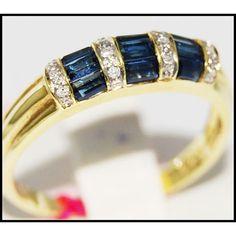 http://rubies.work/0027-emerald-rings/ Diamond 18K Yellow Gold Eternity Gemstone Blue by BKGjewels
