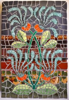 """Richard Youngstrom I am a mosaic artist and often use Dover Clip art books for inspiration as well as recommending them to my students.   """"Honeysuckle"""", attached, came from """"Art Nouveau Flowers and Floral Ornaments"""".  I am currently doing a large outdoor wall mosaic using a Dover """"Art Deco"""" design.  Thank you for these terrific resources,"""