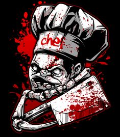 My dota 2 hero Chef Pudge. Butcher. T shirt design for my shop https://fishark.threadless.com/designs/pudge who's next? illustration/ photoshop / artworks / poster / drawing /