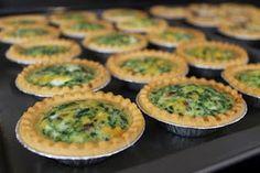 cheesy spinach Mini Quiche