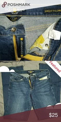 Selling this NWOT Size 2 LUCKY BRAND jeans on Poshmark! My username is: vmlewis1985. #shopmycloset #poshmark #fashion #shopping #style #forsale #Lucky Brand #Denim