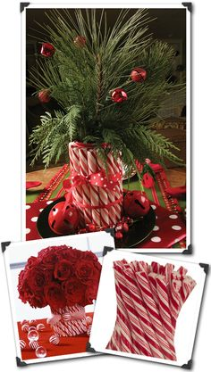 Craft Projects with Vases   ... Invitations for Stylish Celebrations: {Holiday Crafts} Candy Cane Vase