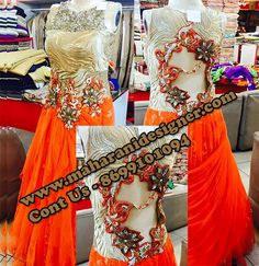 #DesignerBridalGownonline #TopBridalGownOnlineShopping #WeddingGownOnline #BeautifulGownForBride Maharani Designer Boutique  To buy it click on this link  http://maharanidesigner.com/Anarkali-Dresses-Online/bridal-gowns/ Rs - 18500 Hand work  Fabric - Net Available in all Colors  Fine Quality fabric  For any more information contact on WhatsApp or call 8699101094 Website www.maharanidesigner.com