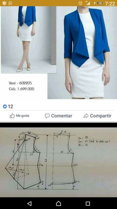 Amazing Sewing Patterns Clone Your Clothes Ideas. Enchanting Sewing Patterns Clone Your Clothes Ideas. Coat Patterns, Dress Sewing Patterns, Clothing Patterns, Blazer Pattern, Jacket Pattern, Fashion Sewing, Diy Fashion, Sewing Blouses, Dressmaking
