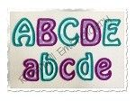 Small 1 1/2 Inch Hobo Applique Machine Embroidery Alphabet