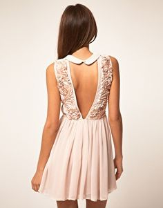 I love dresses with interesting backs.