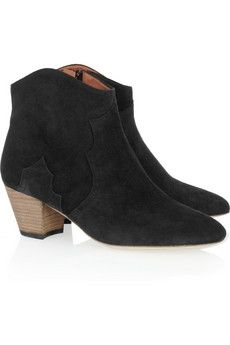 Isabel Marant|Dicker suede ankle boots|NET-A-PORTER.COM - StyleSays