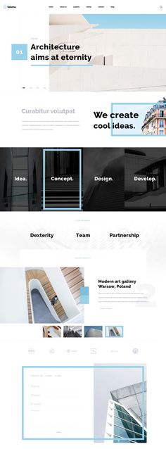 Selene is free architecture website PSD template with modern and minimal design. It is also ideal for for construction companies, interior designer and others. Website Layout, Web Layout, Layout Design, Architecture Websites, Architecture Portfolio Template, Mise En Page Web, Pag Web, Website Design Inspiration, Site Internet