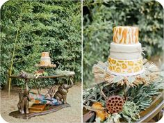 African Safari Wedding Cake via The Wedding Chicks  http://www.weddingchicks.com/2012/03/26/african-safari-wedding-ideas/