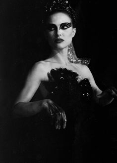 Natalie Portman as the Black Swan.