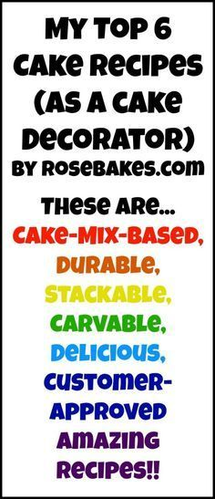My Top 6 Favorite Cake Recipes