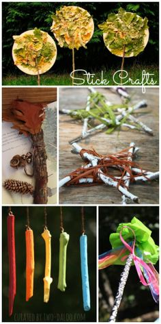 Ten ideas for beautiful crafts kids can do with sticks.
